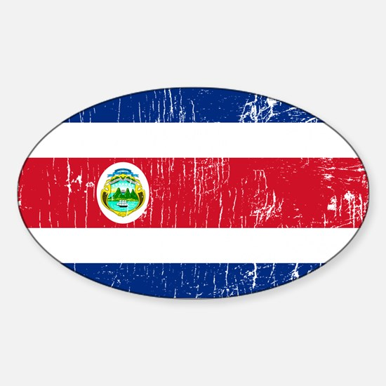 Vintage Costa Rica Oval Decal