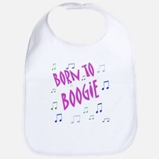 """Born To Boogie"" Girl Bib"