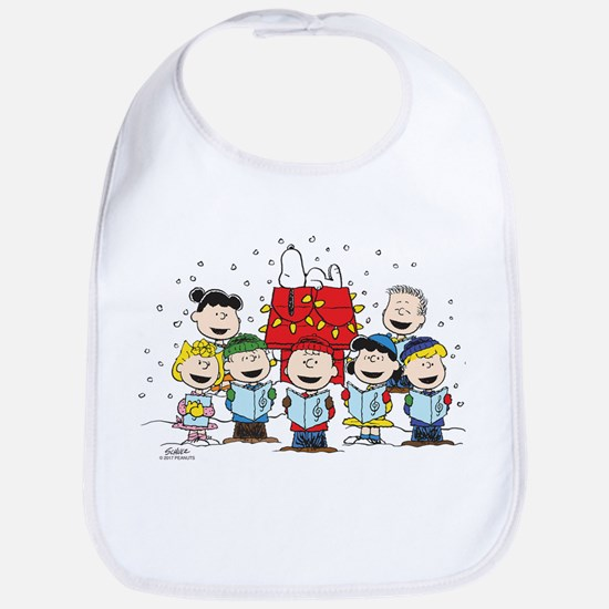Peanuts Gang Christmas Cotton Baby Bib