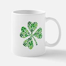 lucky four-leaf clover Mugs