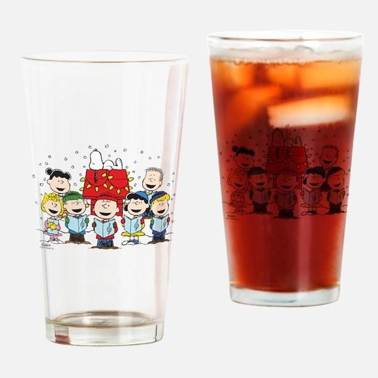 Peanuts Gang Christmas Drinking Glass