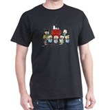 Peanuts christmas Mens Classic Dark T-Shirts