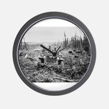Alaska jeep - Wall Clock