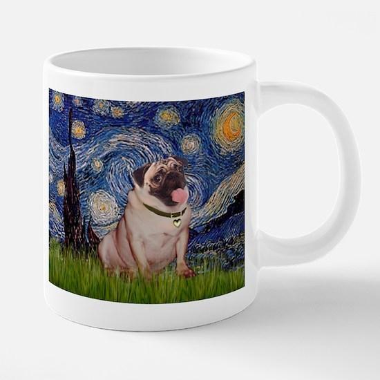 Starry Night and Fawn Pug Mugs