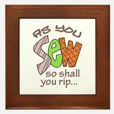 SEW SHALL YOU RIP Framed Tile