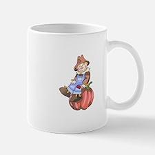 SCARECROW ON PUMPKIN Mugs