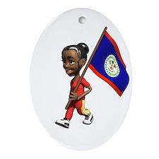 Belize Girl Oval Ornament