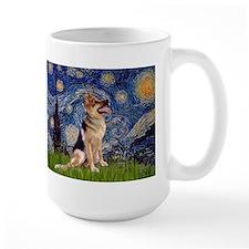 Starry Night & German Shepherd 1 Ceramic Mugs