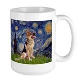German shepherd starry Large Mugs (15 oz)