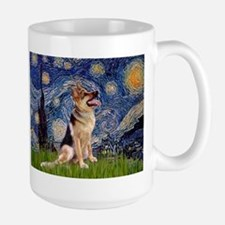 Starry Night & German Shepherd 1 Mug