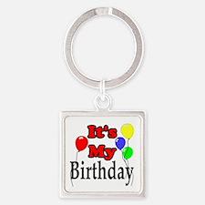 Its My Birthday Square Keychain