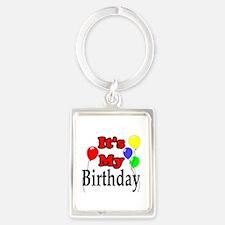 Its My Birthday Portrait Keychain