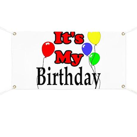 Its My Birthday Banner By Catndog