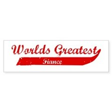 Greatest Fiance (red) Bumper Bumper Sticker