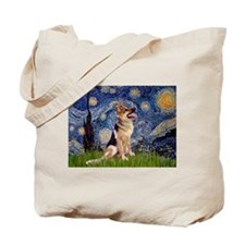 Starry Night German Shepherd 1 Tote Bag