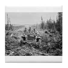 Alaska jeep - Tile Coaster
