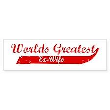 Greatest Ex-Wife (red) Bumper Bumper Sticker