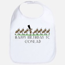 Happy Birthday Conrad (ants) Bib