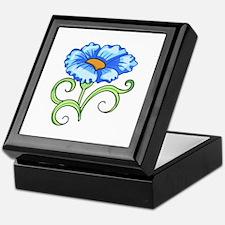 BLUE FLOWER Keepsake Box
