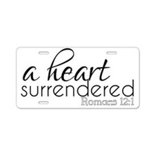 A Heart Surrendered Aluminum License Plate