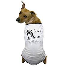 Ski snow fun black design Dog T-Shirt