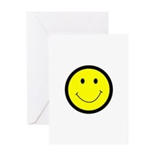 SMILEY FACE APPLIQUE Greeting Cards