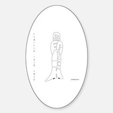 Sepideh in White Oval Decal