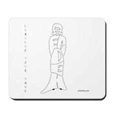 Sepideh in White Mousepad