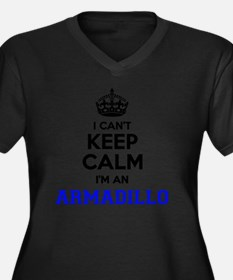 Funny A is for armadillo Women's Plus Size V-Neck Dark T-Shirt
