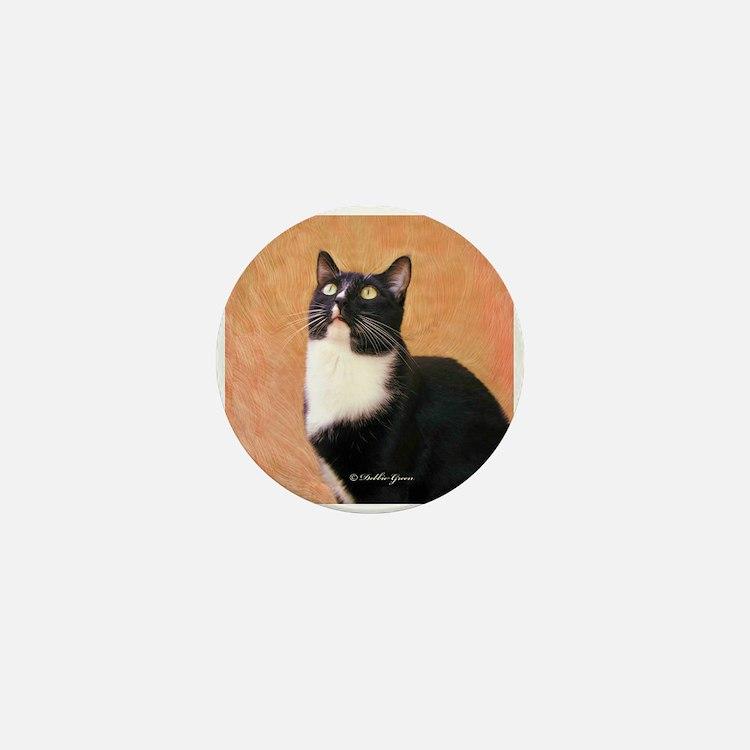 Curious Cat Mini Button
