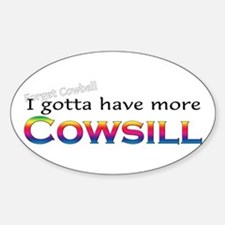 More Cowsill Rainbow Oval Decal