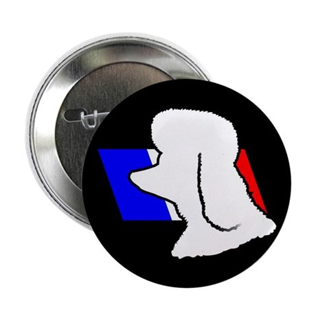 """French Poodle 2.25"""" Button (10 pack)"""