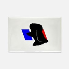 French Poodle Rectangle Magnet