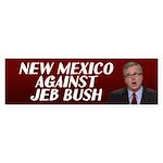New Mexico Against Jeb Bush Bumper Sticker