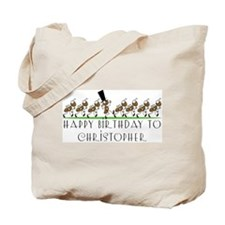 Happy Birthday Christopher (a Tote Bag