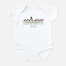 Happy Birthday Dustin (ants) Infant Bodysuit
