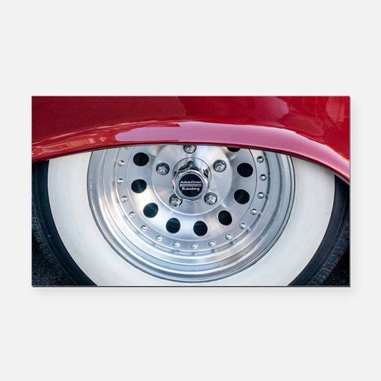Classy Whitewalls Rectangle Car Magnet