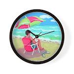 A Perfect Beach Day Wall Clock