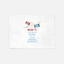 Rule #1 5'x7'Area Rug