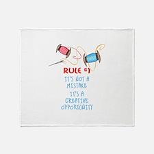 Rule #1 Throw Blanket