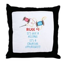 Rule #1 Throw Pillow