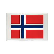 Norwegian Flag Rectangle Magnet