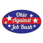 Ohio Against Jeb Bush Sticker