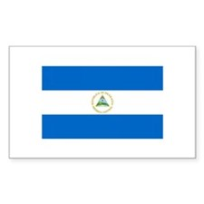 Nicaraguan Flag Rectangle Decal