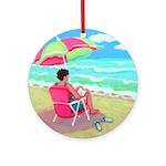 A Perfect Beach Day Ornament (Round)
