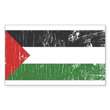 Vintage Palestine Rectangle Decal