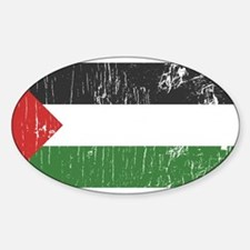 Vintage Palestine Oval Decal