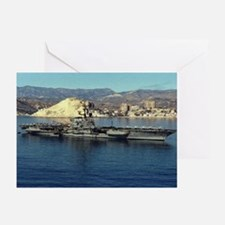USS Coral Sea Ship's Image Greeting Cards (Pk of 1