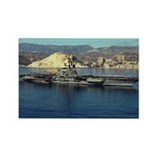 USS Coral Sea Ship's Image Rectangle Magnet