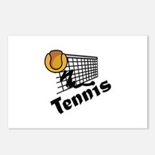 TENNIS BALL AND NET Postcards (Package of 8)